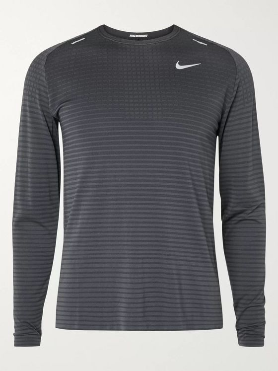 Nike Running TechKnit Ultra Striped Jersey Top
