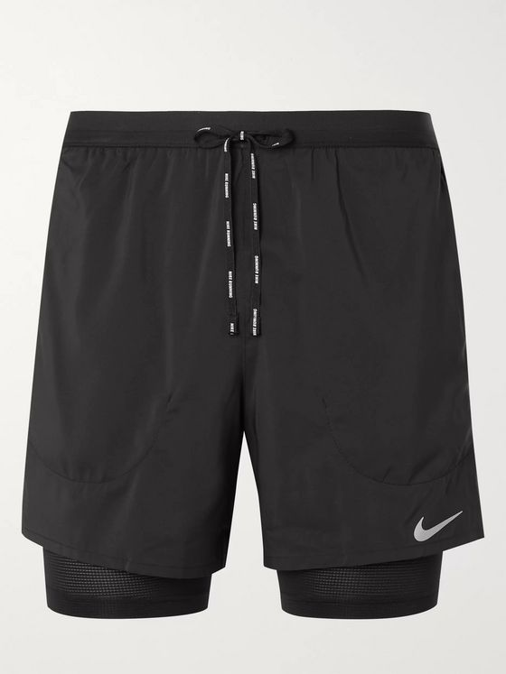 Nike Running Stride 2-in-1 Flex and Mesh Dri-FIT Shorts