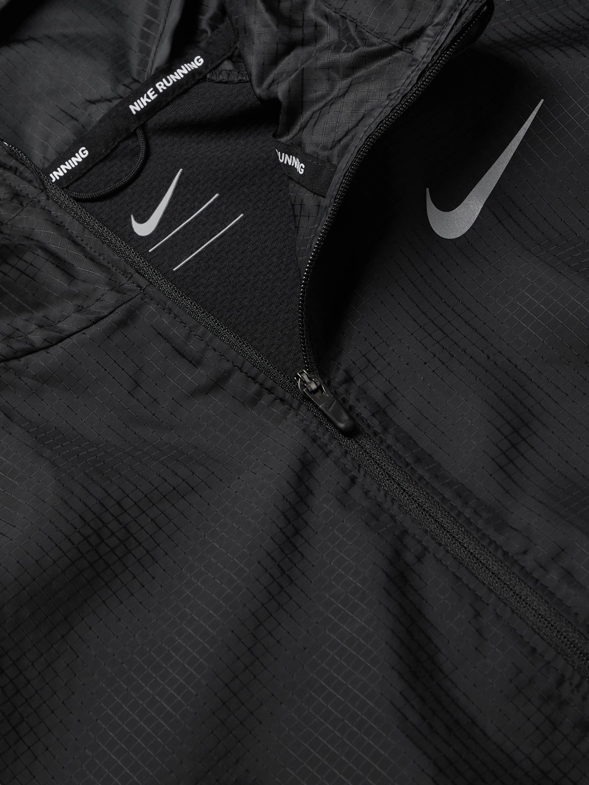 Nike Running Windrunner Logo-Print Shell Hooded Jacket
