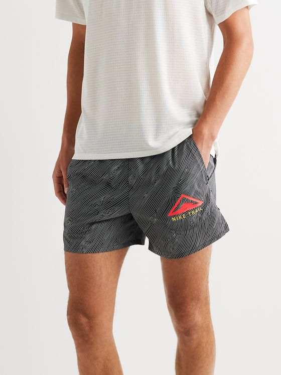 Nike Running Flex Stride Logo-Print Ripstop-Panelled Dri-Fit Running Shorts