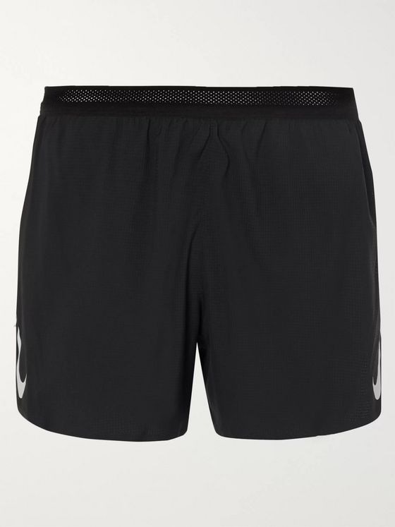 Nike Running AeroSwift Logo-Print Perforated Shell Running Shorts