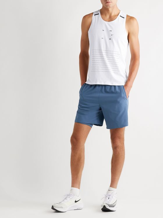 Nike Running Tech Pack Perforated Stretch-Jersey Tank Top