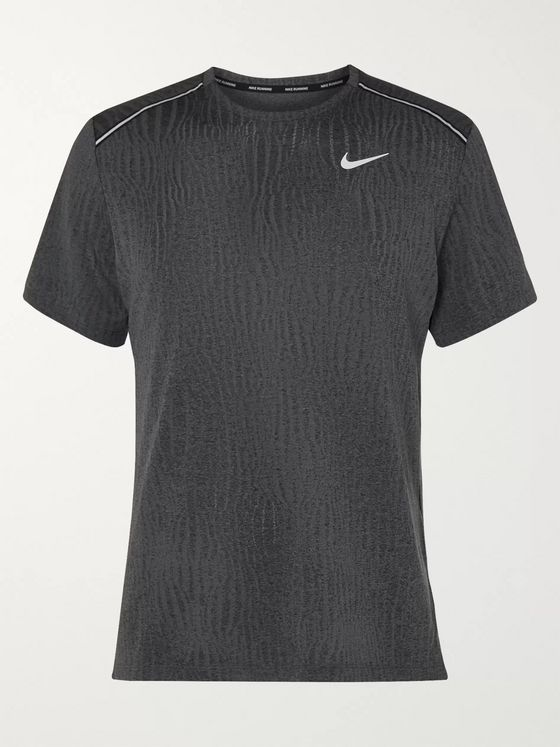 Nike Running Miler Textured Mélange Dri-FIT T-Shirt
