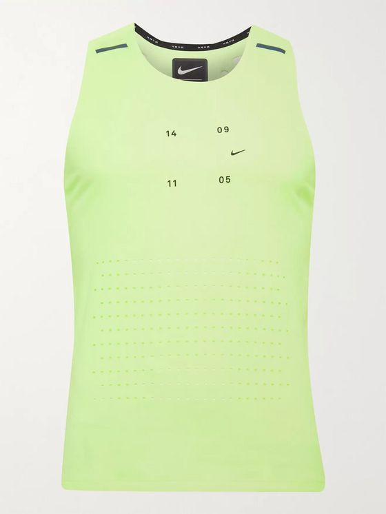 Nike Running Tech Pack Logo-Print Perforated Stretch-Jersey Tank Top