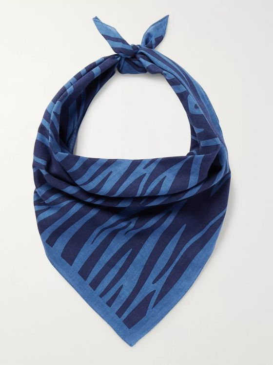 Blue Blue Japan Printed Cotton Bandana