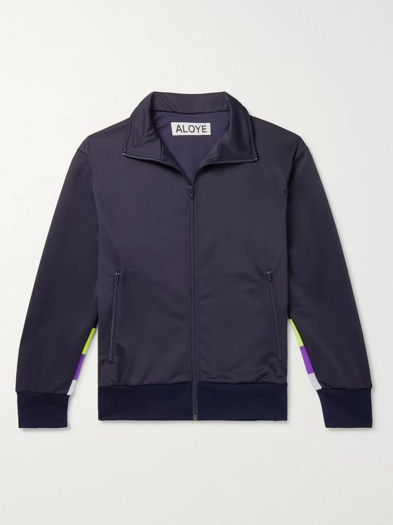 Aloye Panelled Tech-Jersey Track Jacket