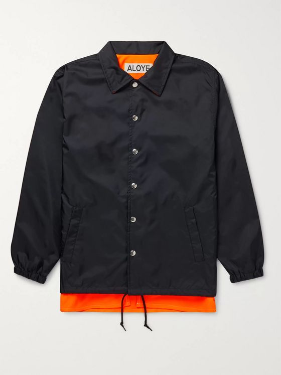 Aloye Layered Nylon and Tech-Jersey Jacket