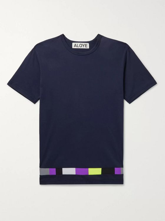 Aloye Panelled Cotton-Jersey T-Shirt