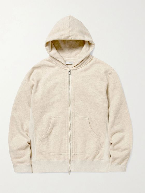 nonnative Dweller Mélange Loopback Cotton-Jersey Zip-Up Hoodie