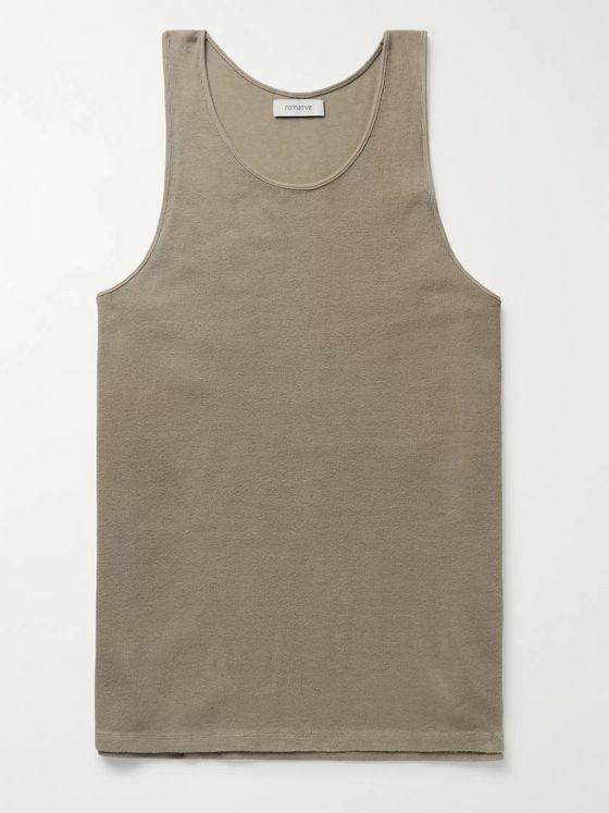 nonnative Dweller Ripped Cotton-Blend Jersey Tank Top