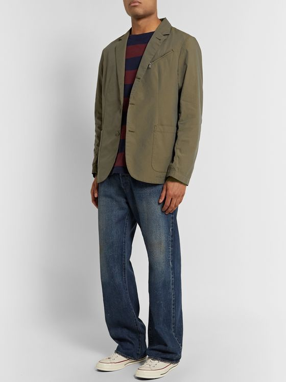 nonnative Officer Unstructured Cotton-Ripstop Blazer