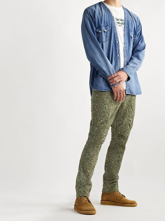 nonnative Educator Printed Cotton Trousers