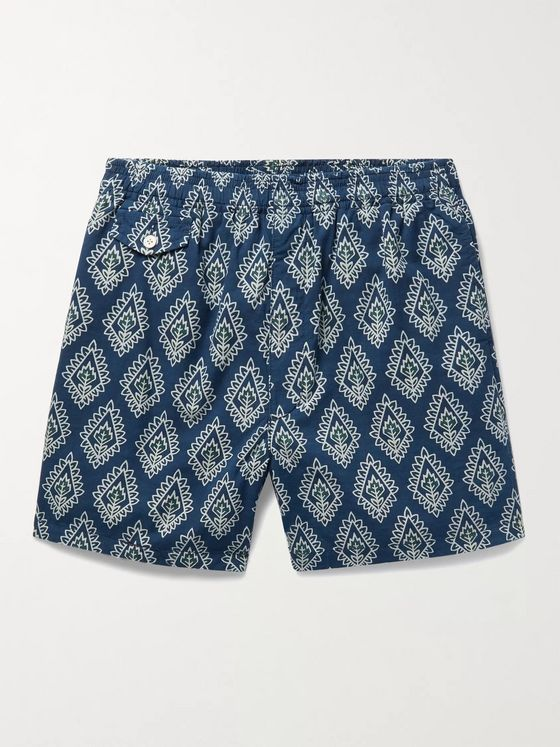BEAMS PLUS Printed Cotton Shorts