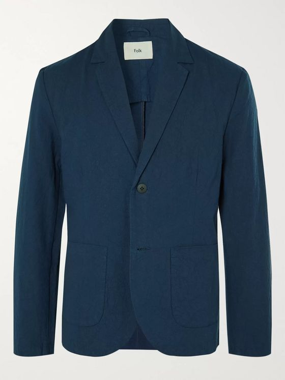 Folk Crinkled-Cotton Suit Jacket