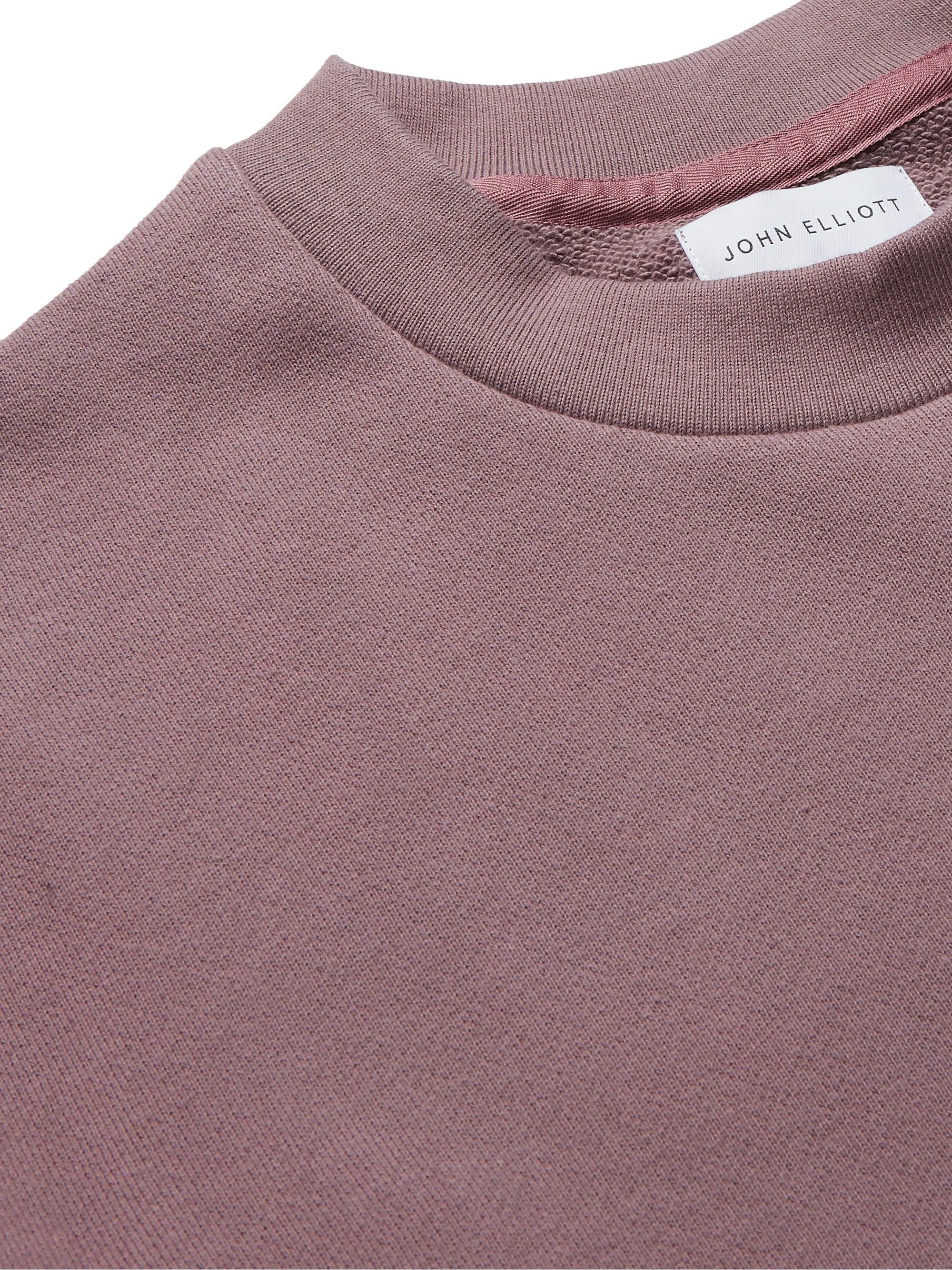 Purple Loopback Cotton-jersey Sweatshirt | John Elliott