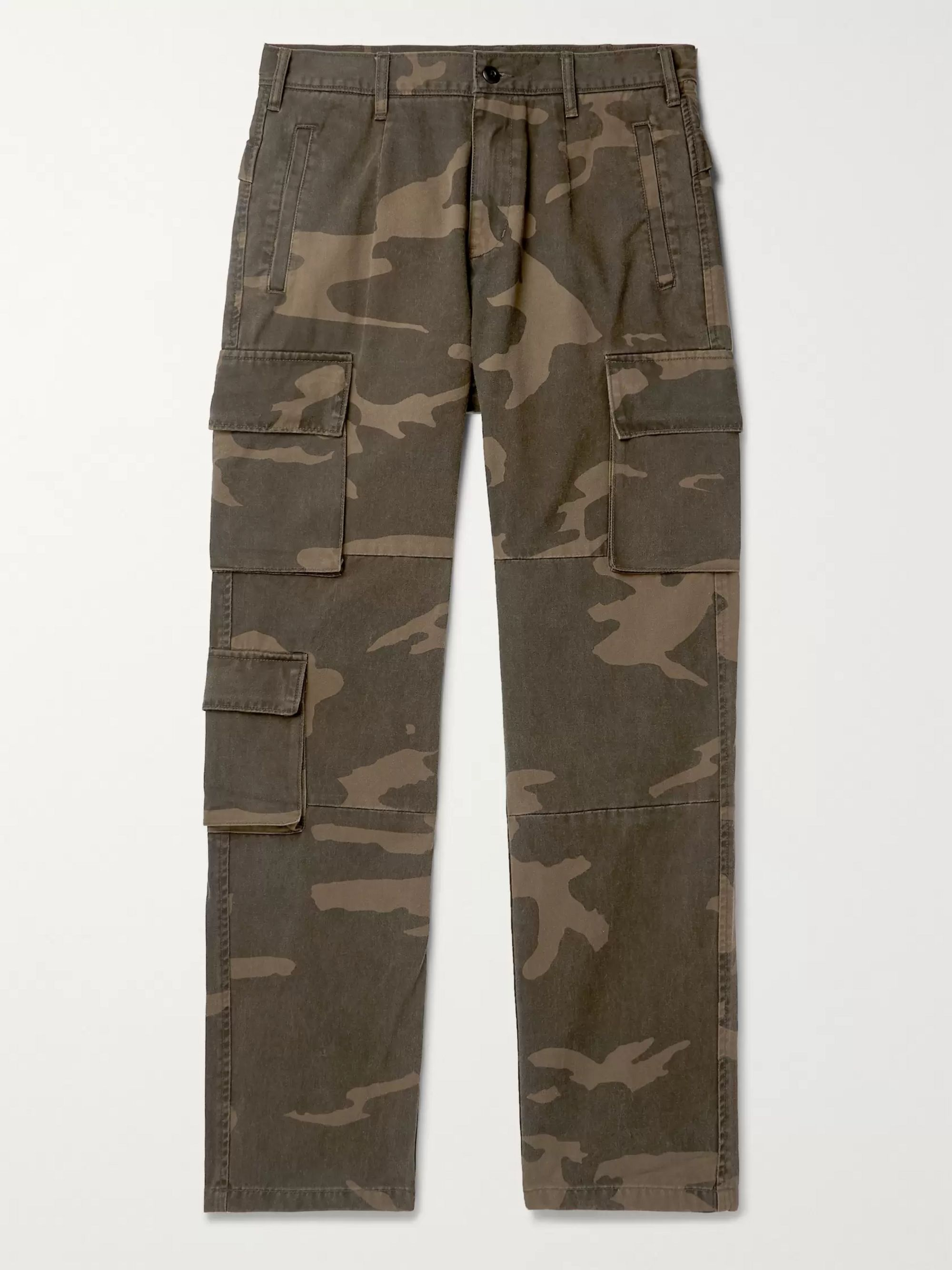 John Elliott Camouflage-Print Cotton-Twill Cargo Trousers