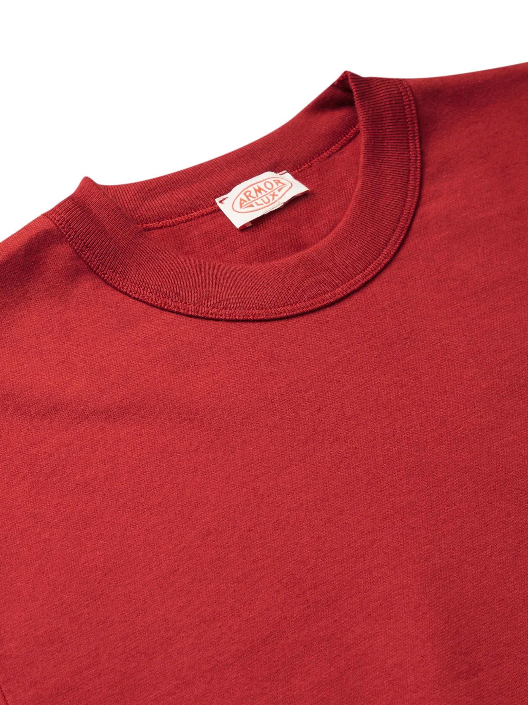 Red Cotton-jersey T-shirt | Armor Lux