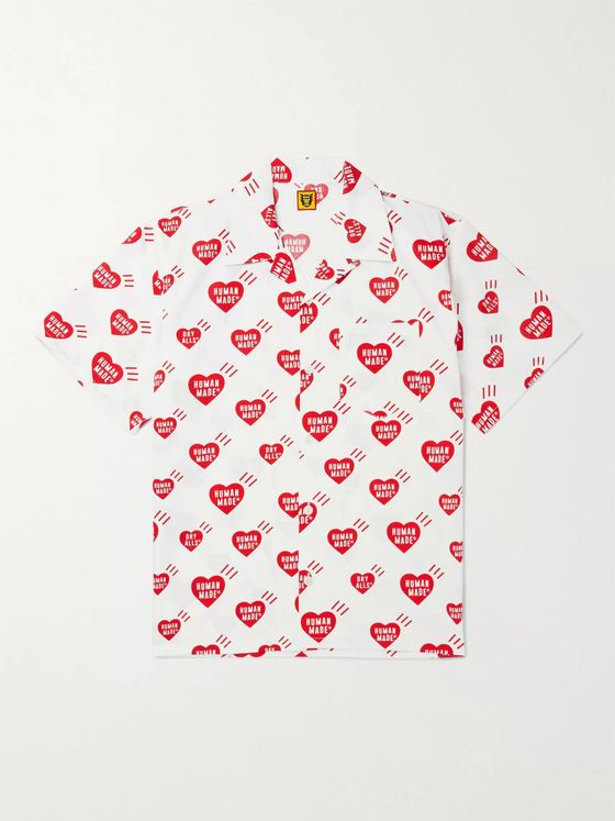 Human Made Camp-Collar Printed Cotton-Poplin Shirt