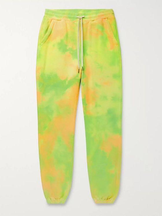 John Elliott LA Tapered Tie-Dyed Loopback Cotton-Jersey Sweatpants