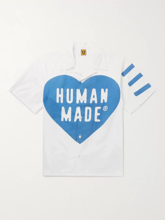 Human Made Camp-Collar Logo-Print Cotton-Poplin Shirt