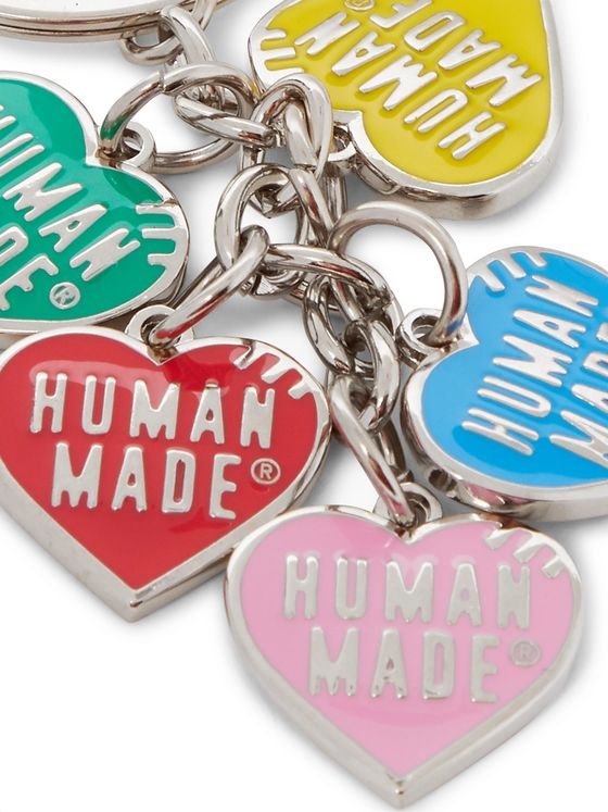 Human Made Silver-Tone and Enamel Key Fob