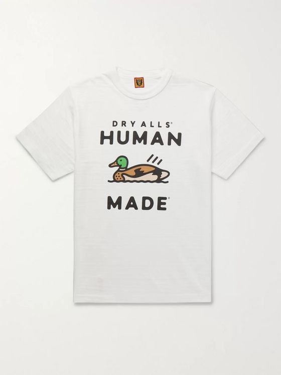 Human Made Logo-Print Cotton-Jersey T-Shirt