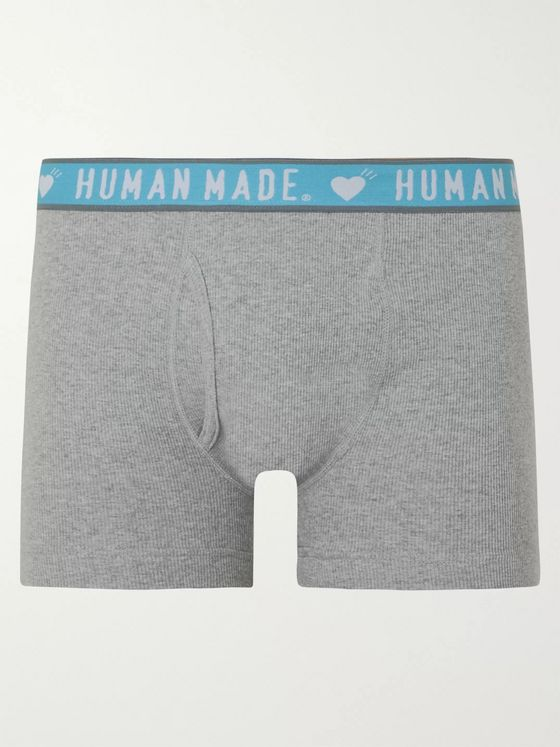 Human Made Ribbed Mélange Cotton Boxer Briefs