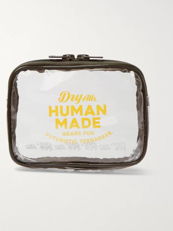 Human Made Logo-Print PVC Wash Bag
