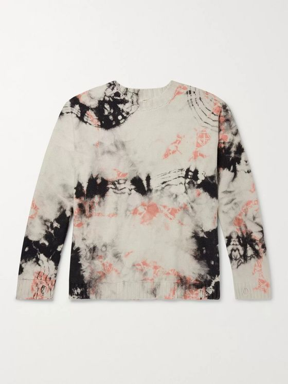 KAPITAL Ashbury Tie-Dyed Cotton Sweater
