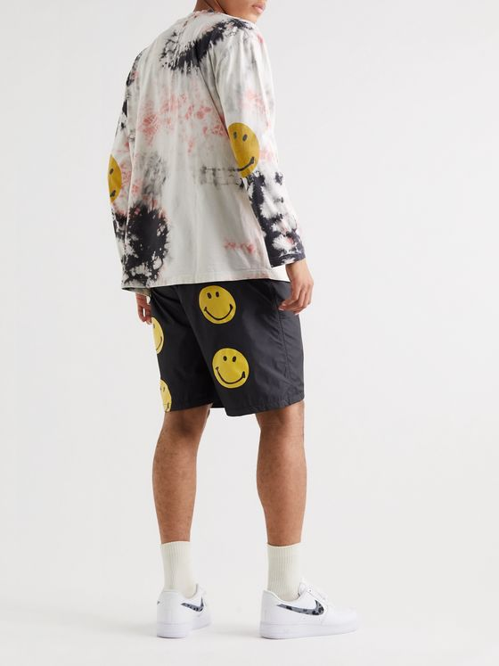 KAPITAL Printed Nylon Drawstring Shorts