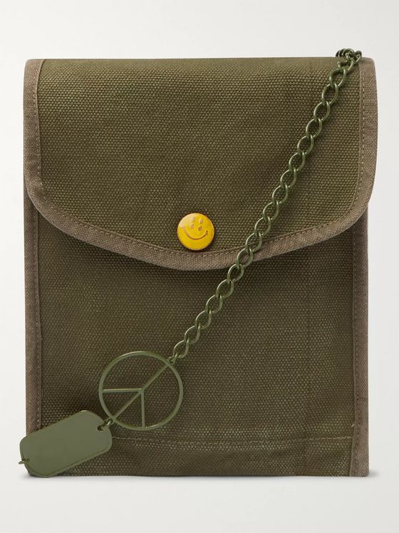 KAPITAL Cotton-Canvas Pouch
