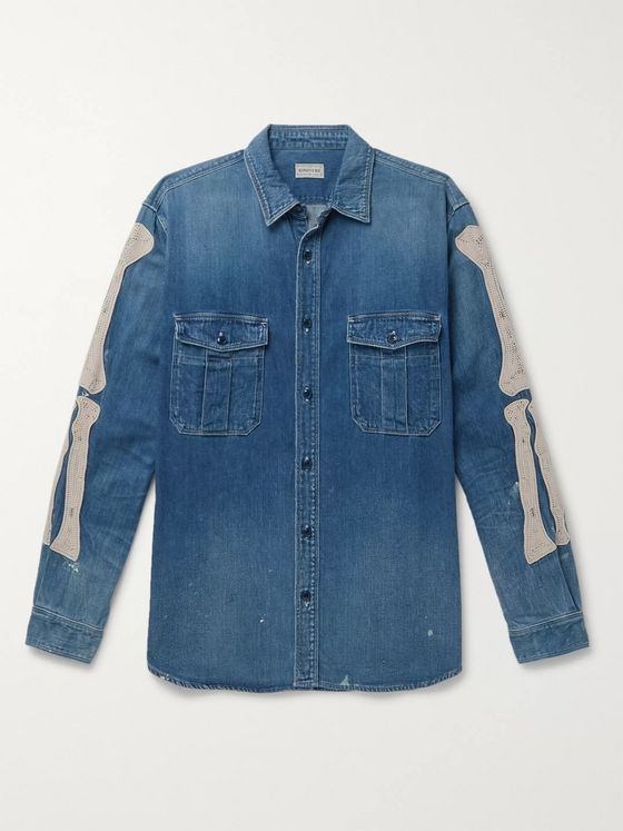 KAPITAL Appliquéd Denim Shirt