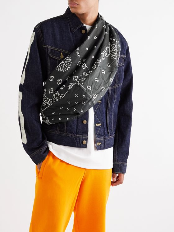 KAPITAL Bandana-Print Cotton Belt Bag