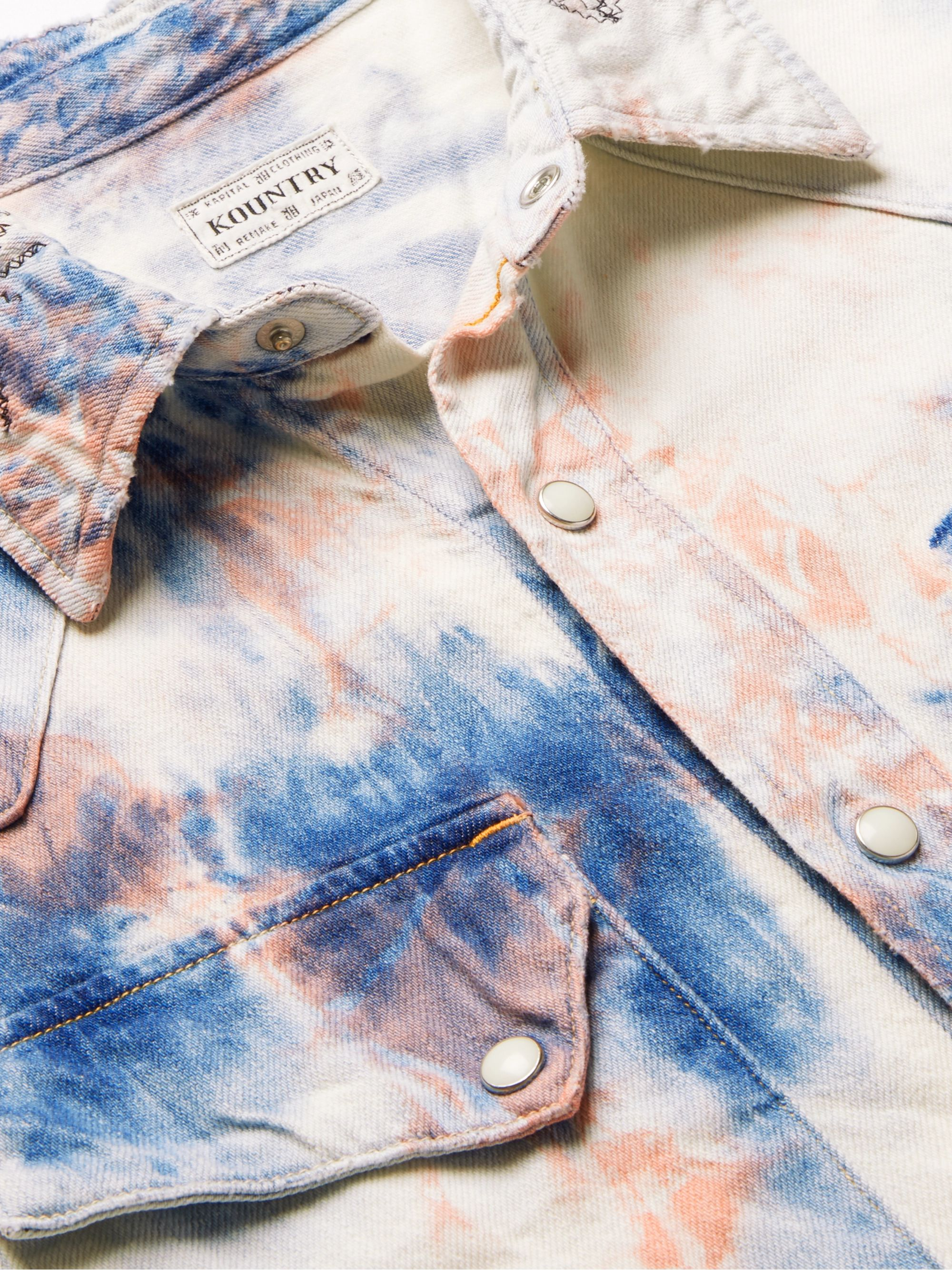 KAPITAL Tie-Dyed Denim Shirt