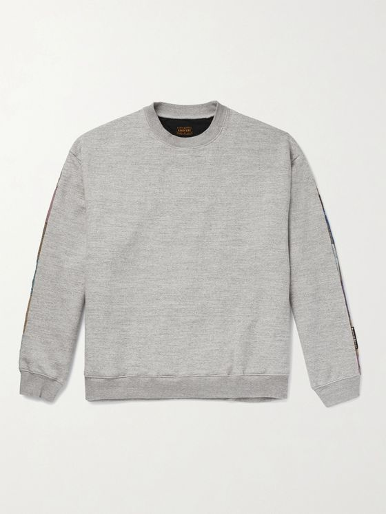 KAPITAL Patchwork-Panelled Loopback Cotton-Jersey Sweatshirt