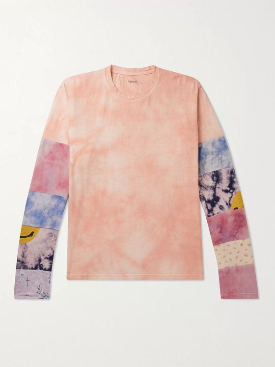 KAPITAL Ashbury Patchwork Tie-Dyed Cotton-Jersey T-Shirt
