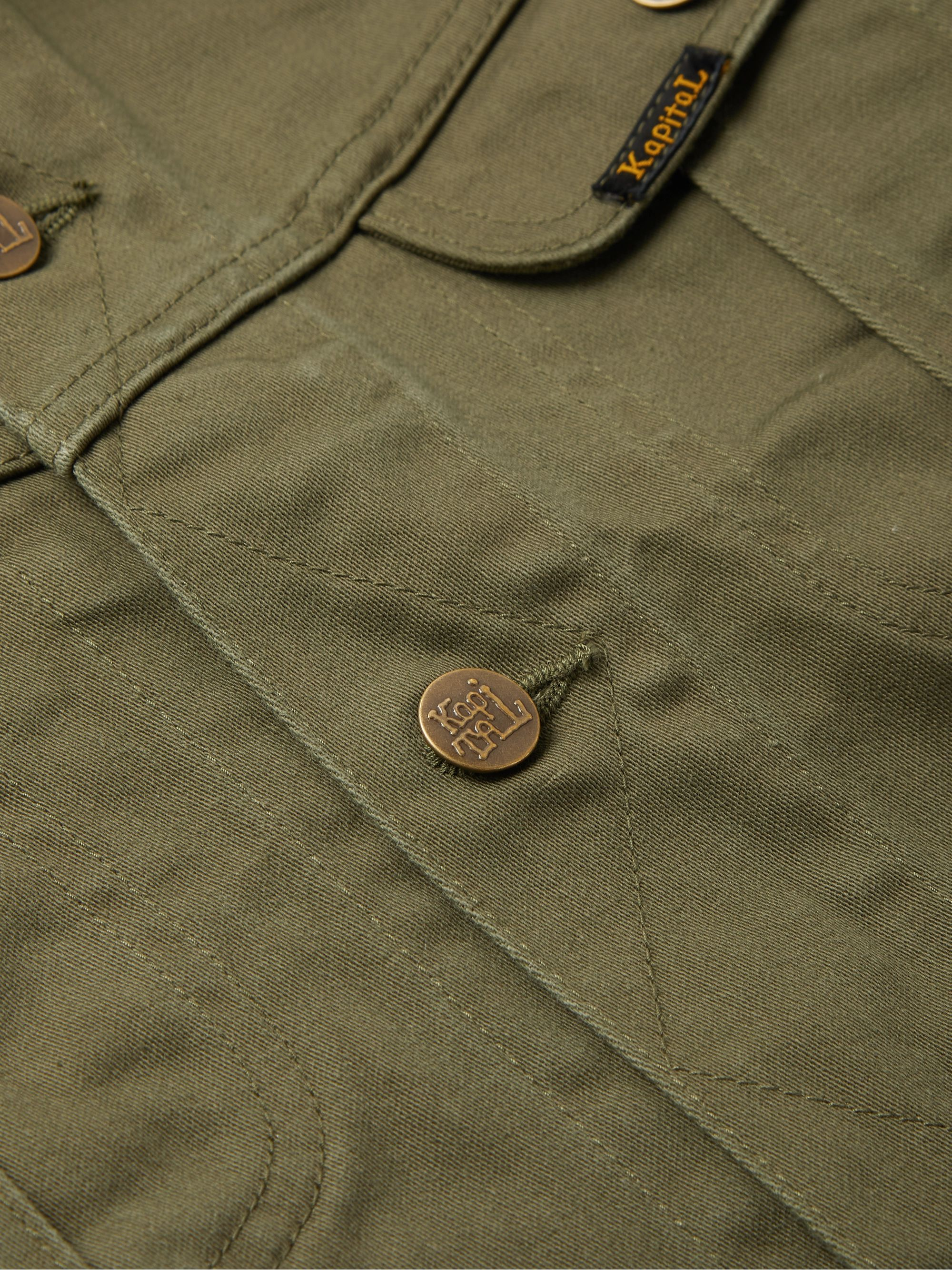 Army Green Appliquéd Denim Jacket | Kapital