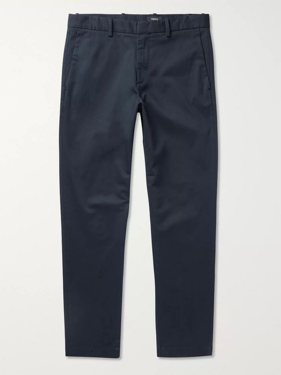 Theory Curtis Tapered Cotton-Blend Chinos