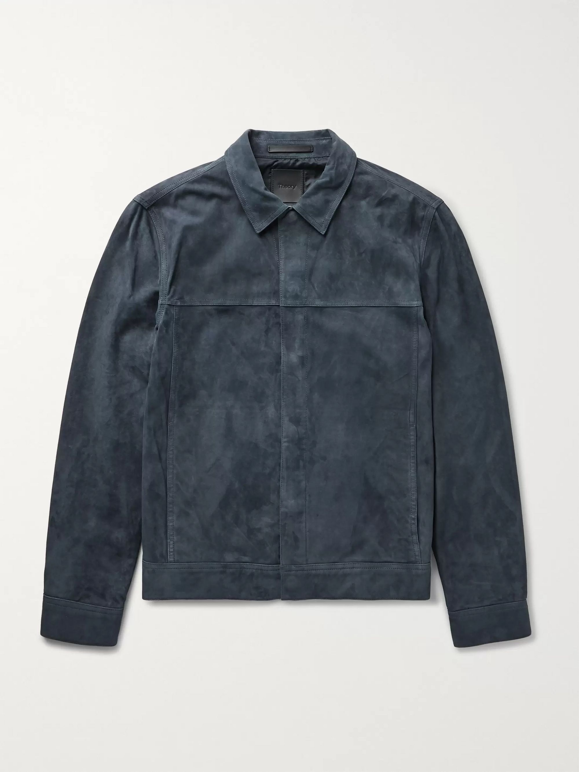 Theory Jamie Suede Trucker Jacket