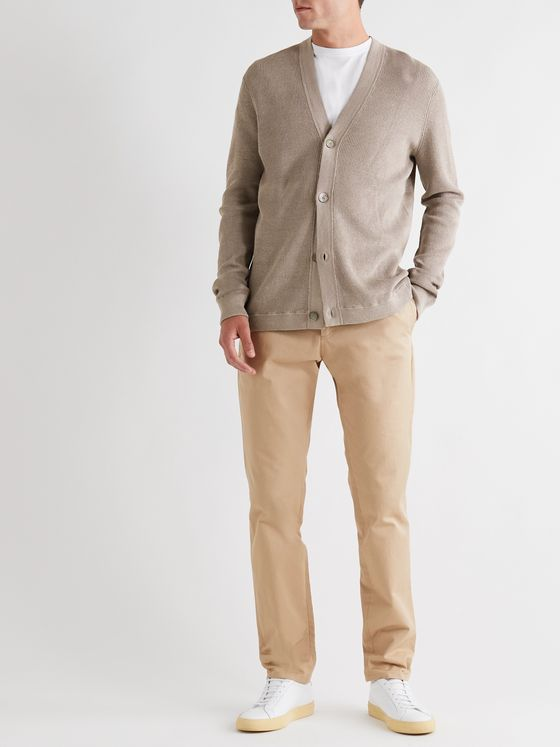 Theory Maragall Linen-Blend Cardigan