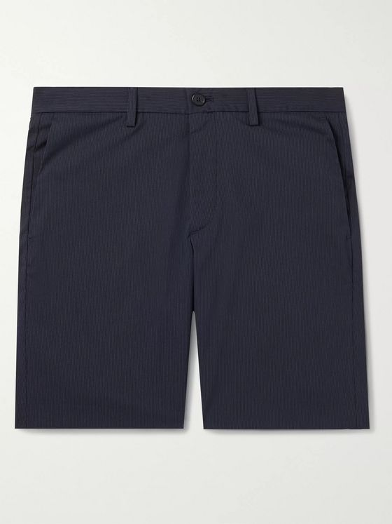 Theory Zaine Slim-Fit Pinstriped Cotton-Blend Shorts