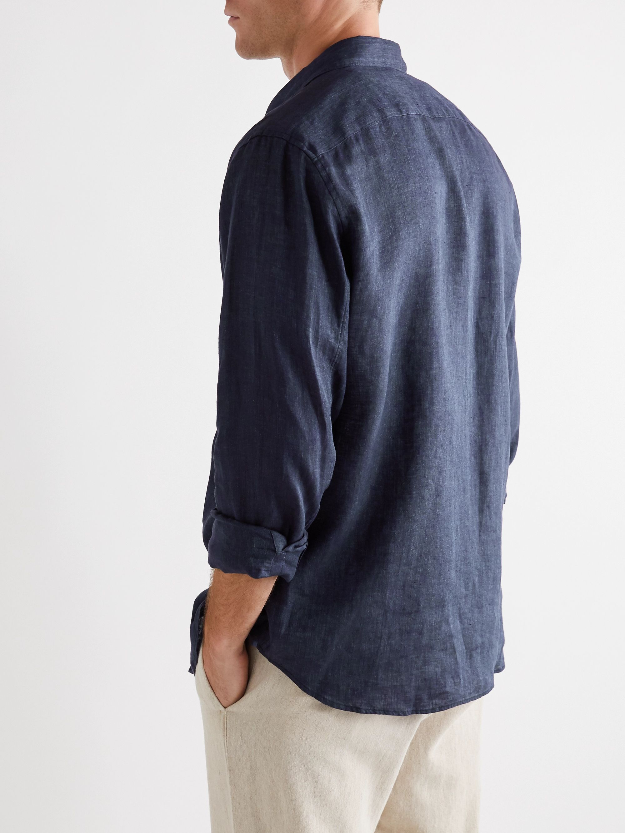 Theory Irving Linen-Chambray Shirt