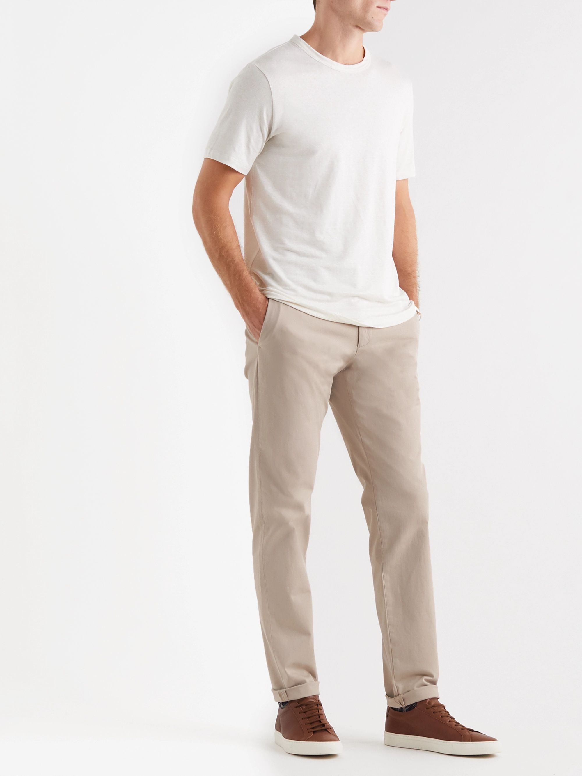 Theory Zaine Slim-Fit Cotton-Blend Twill Trousers