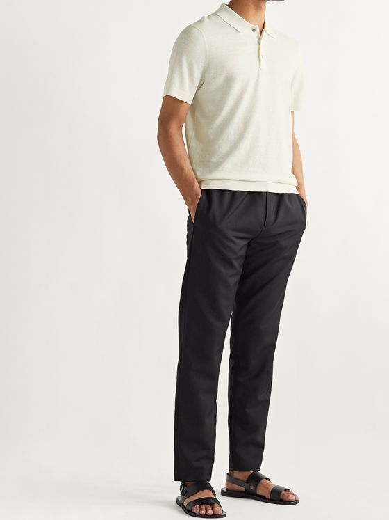 Theory Linen-Blend Polo Shirt