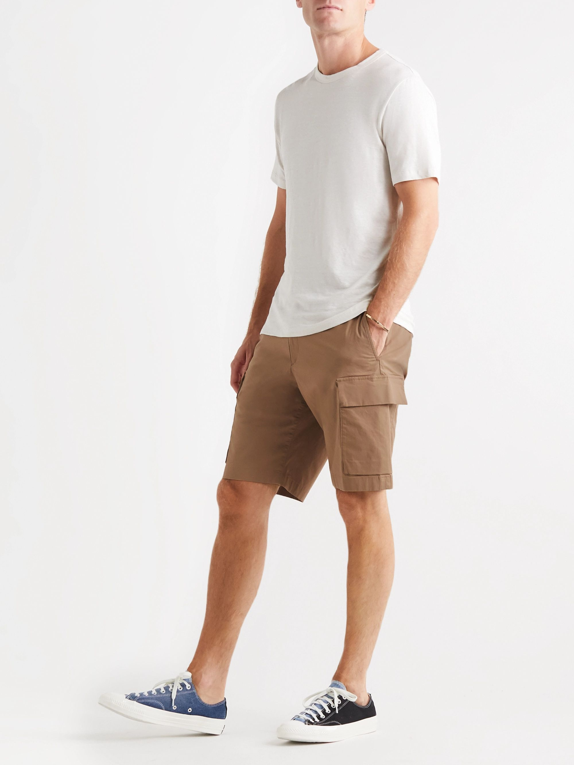 Theory Wilmar Cotton-Blend Poplin Shorts