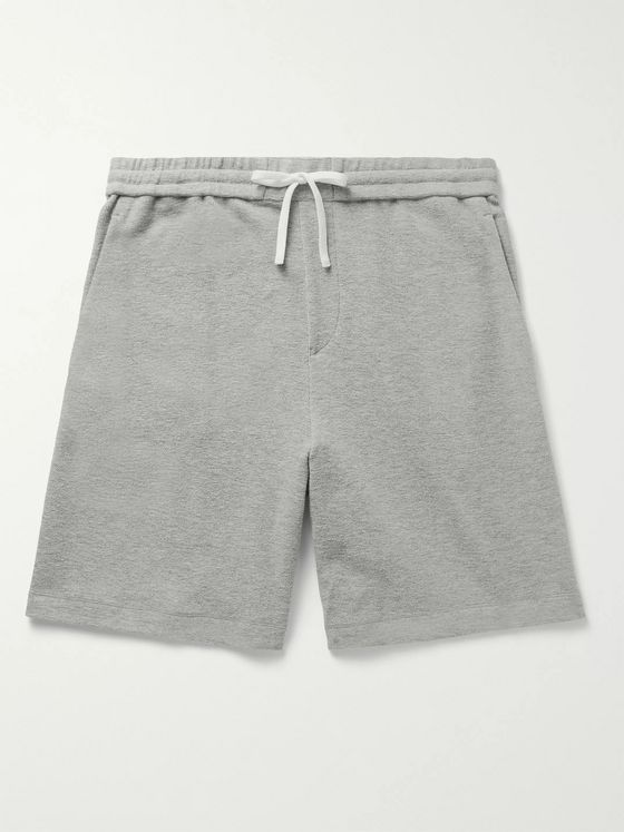 Theory Surf Mélange Cotton-Terry Drawstring Shorts