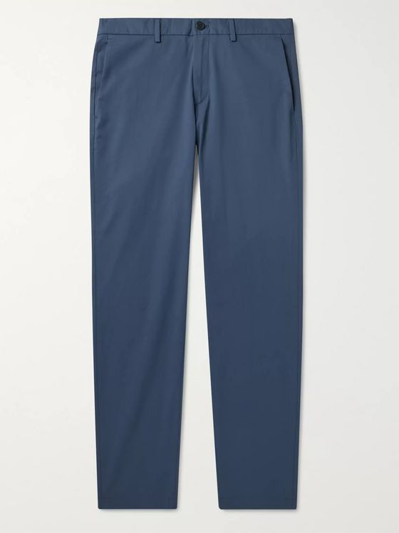 Theory Zaine Slim-Fit Cotton-Blend Poplin Trousers
