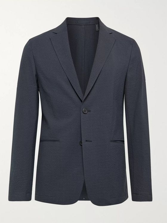 Theory Clinton Unstructured Seersucker Blazer