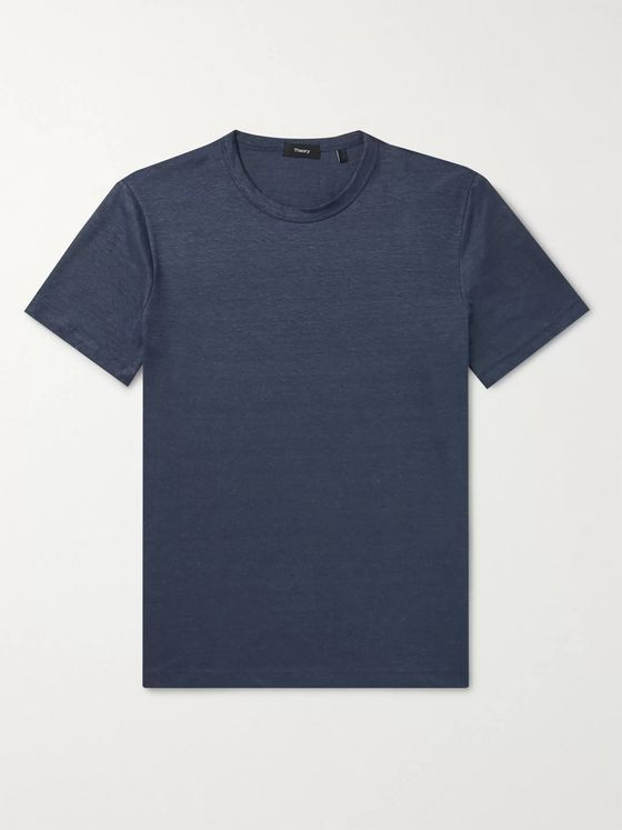 Theory Essential Flex Stretch-Linen T-Shirt