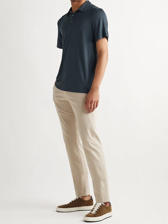 Theory Bron Modal-Blend Polo Shirt